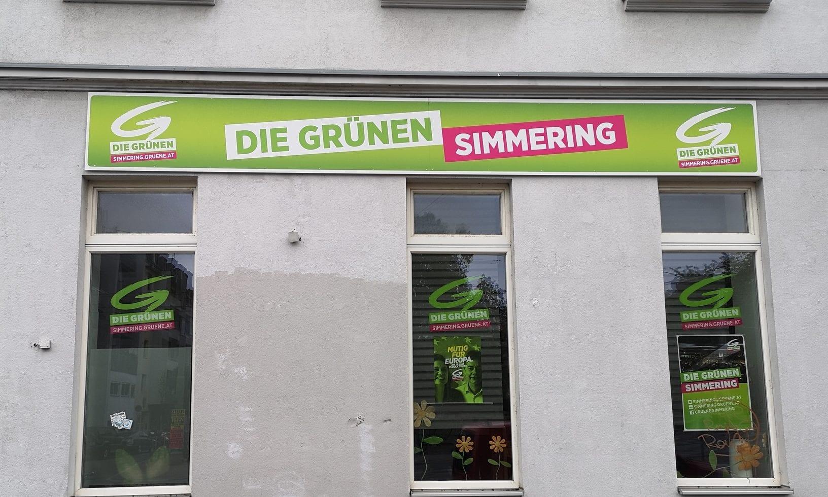 Lokal der Simmeringer Grünen