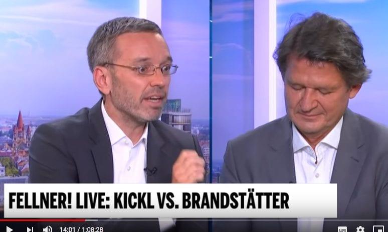 Screenshot / YouTube / Kickl / Brandstätter