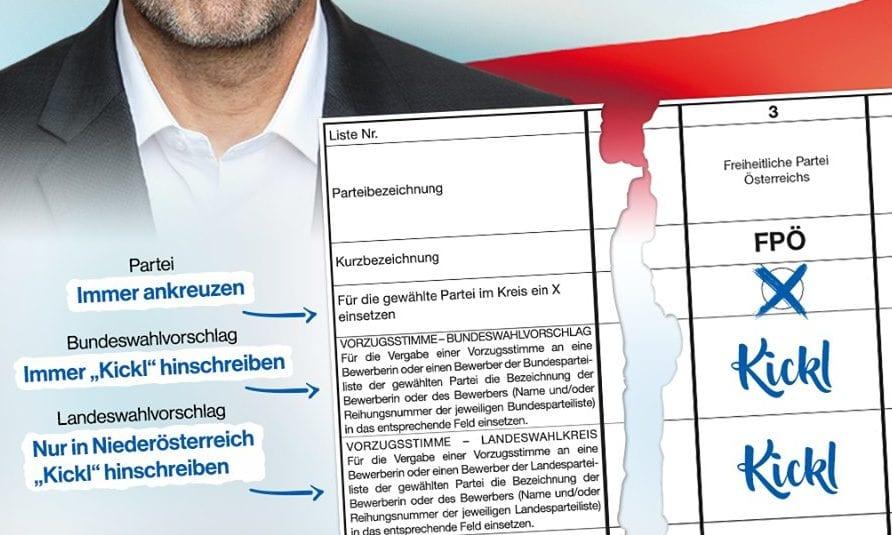 Wenn Kickl Vorzugsstimmen-Kaiser wird: Wie reagieren Kurz, Van der Bellen & Co.?