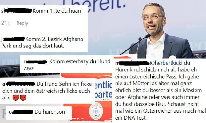 Beleidigungen gegen Herbert Kickl
