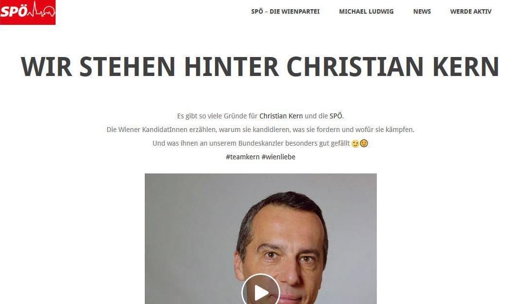 Screenshot / SPÖ Wien / Christian Kern