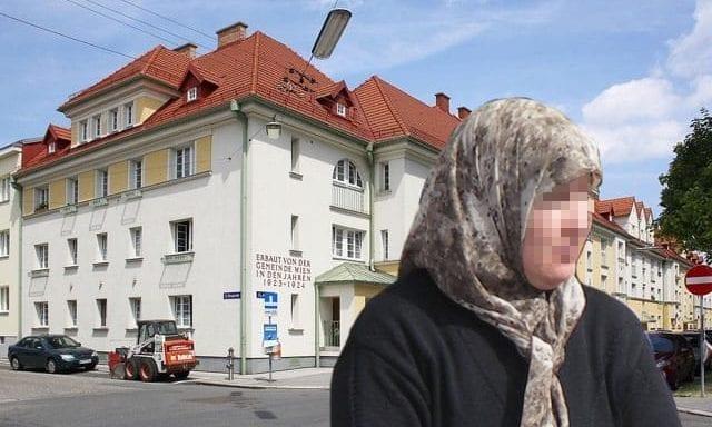 Fotomontage / Kopftuch / Gemeindeau