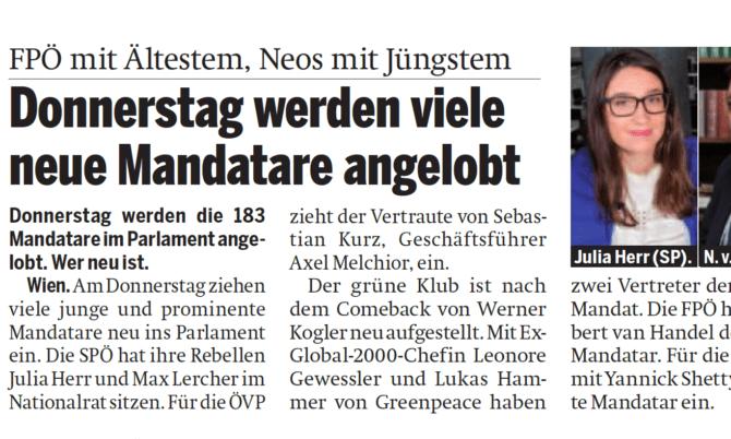 Zeitung Österreich gelobt am Donnerstag Abgeordnete an – Wird Fellner Präsident?