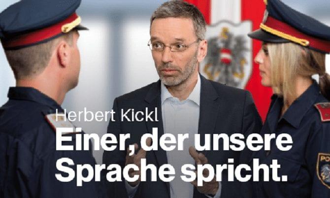 Polizei-Sujet mit Herbert Kickl