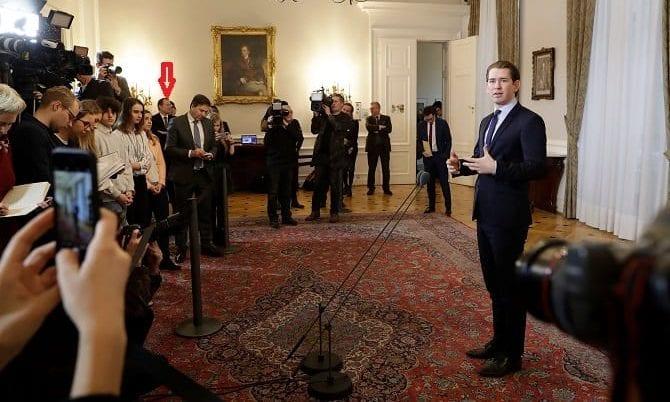Sebastian Kurz vor Medien