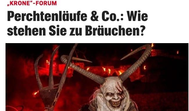 Screenshot / Krone / Perchten