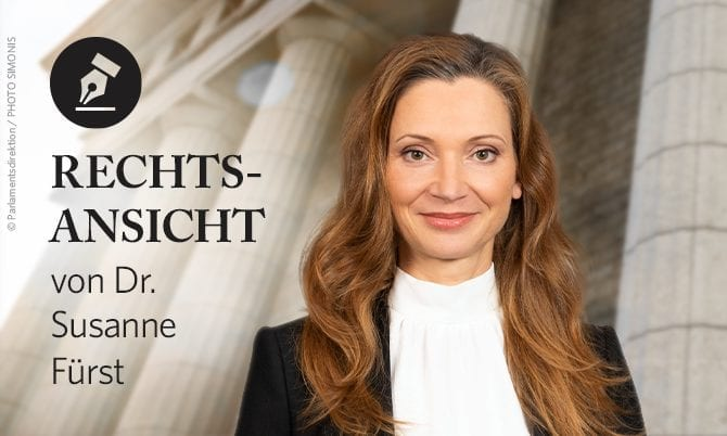 Rechtsansicht - Susanne Fürst