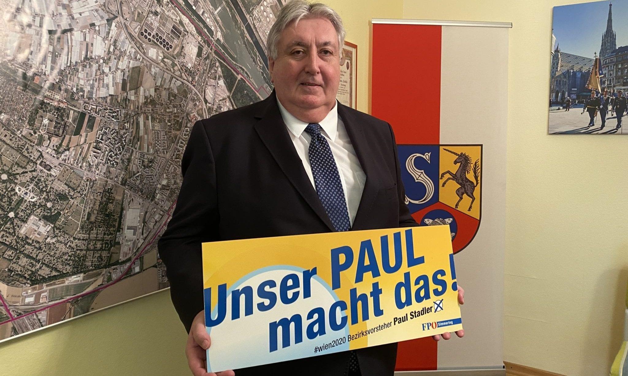 Bezirksvorsteher Paul Stadler