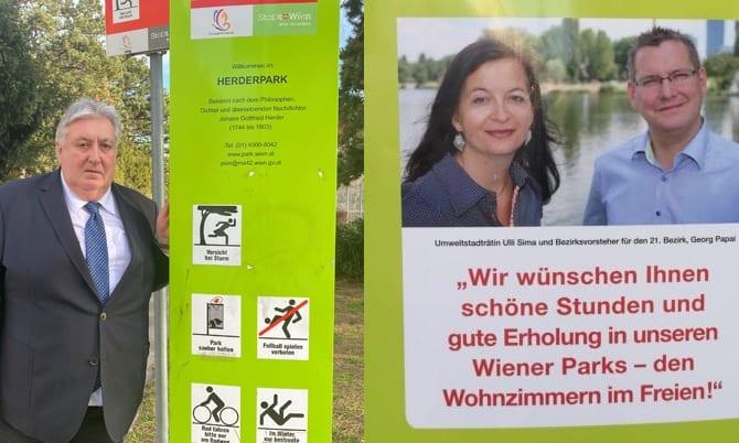 Informationssäulen / Wiener Parkanlagen