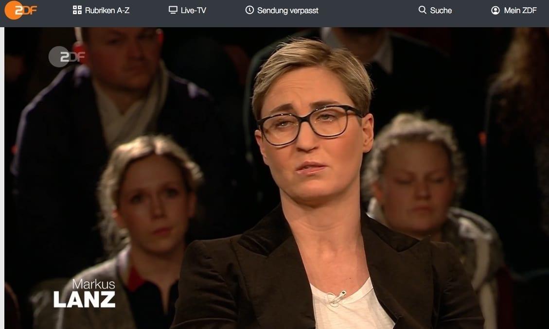 Screenshot / ZDF / Markus Lanz / Susanne Hennig-Wellsow
