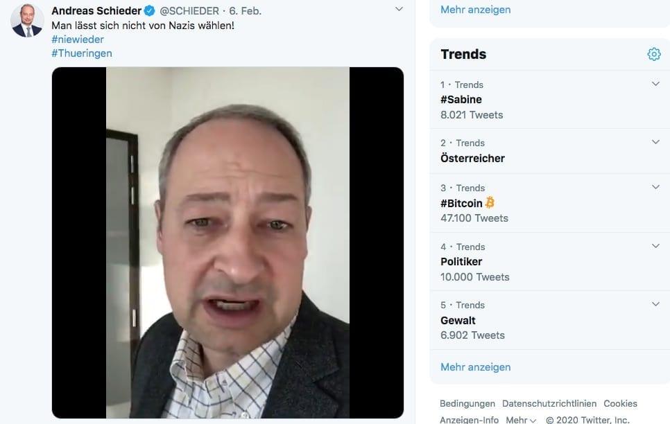 Screenshot / Twitter / Schieder
