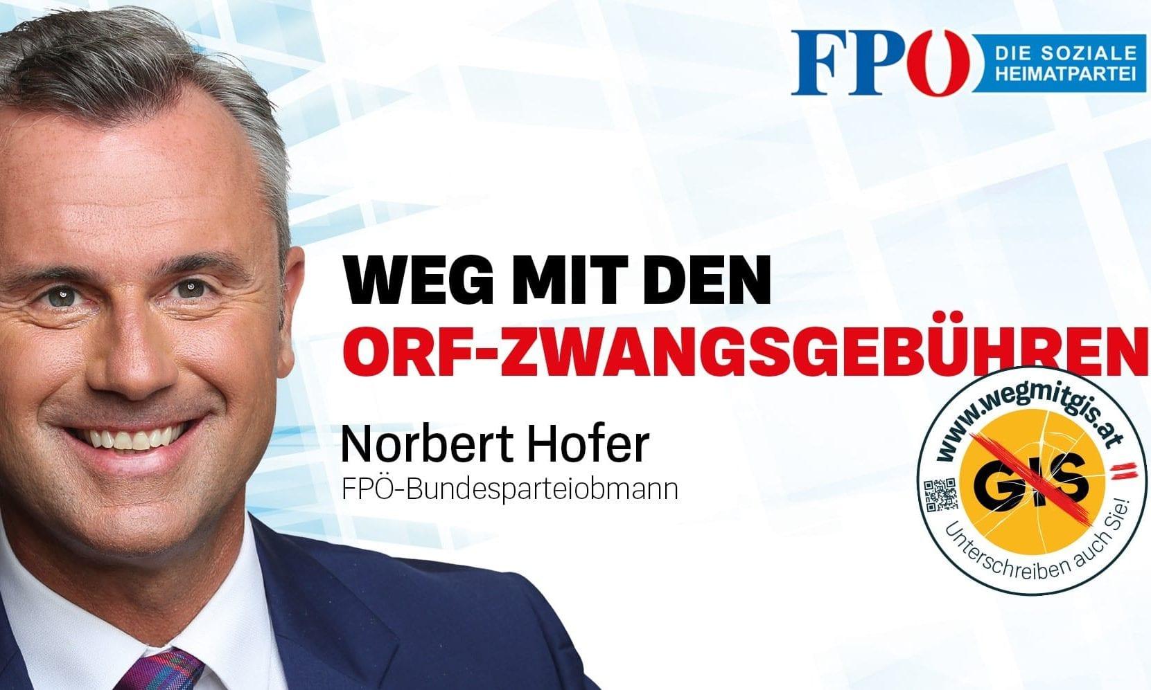 FPÖ startet mit www.wegmitgis.at Onlinepetition zur Abschaffung der GIS-Gebühr