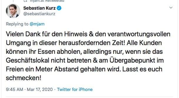 Screenshot / Twitter / Kurz