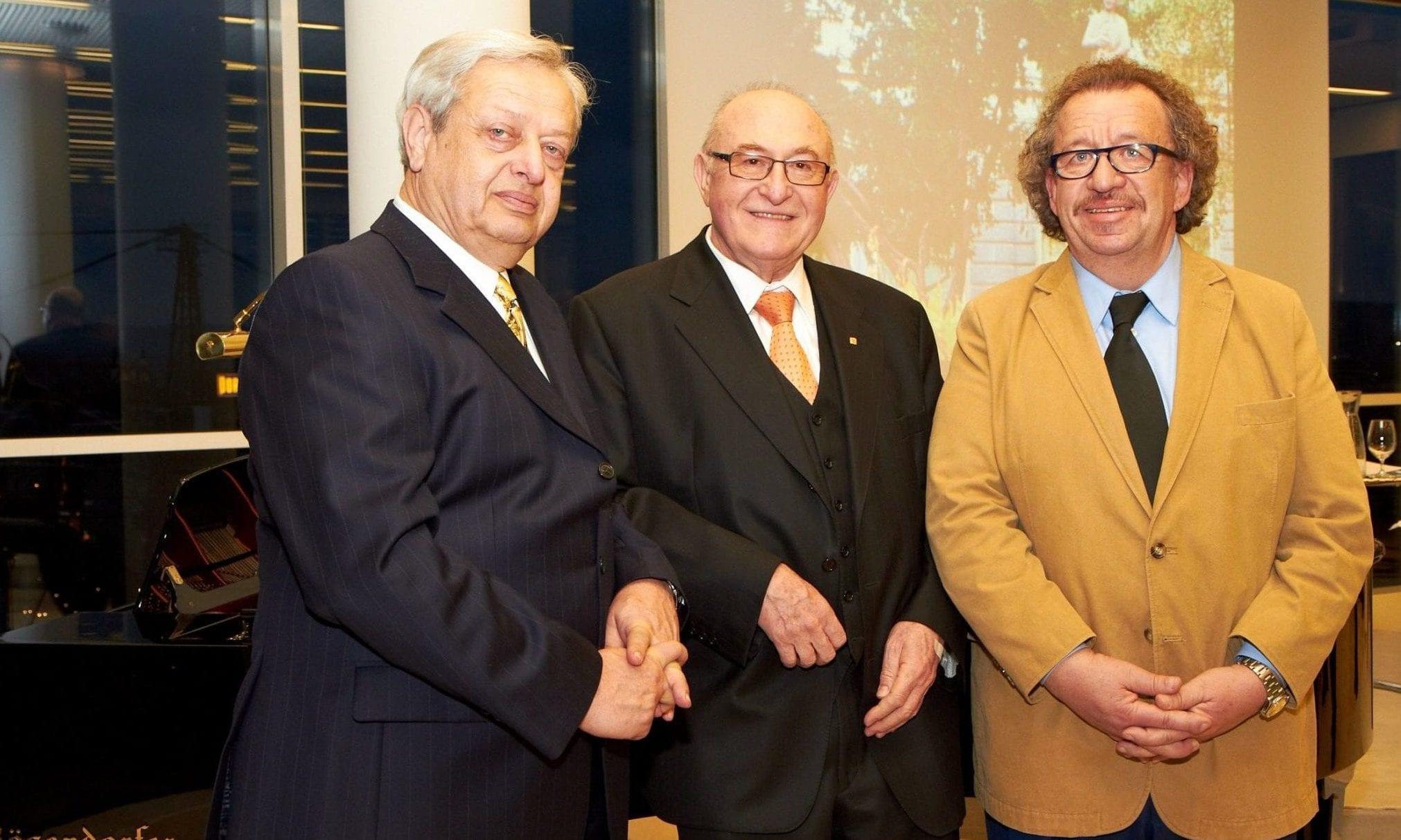 Univ. Prof. DDr. Wolfgang Graninger, Generaldirektor Dr. Günter Geyer und Kammersänger Alfred Sramek