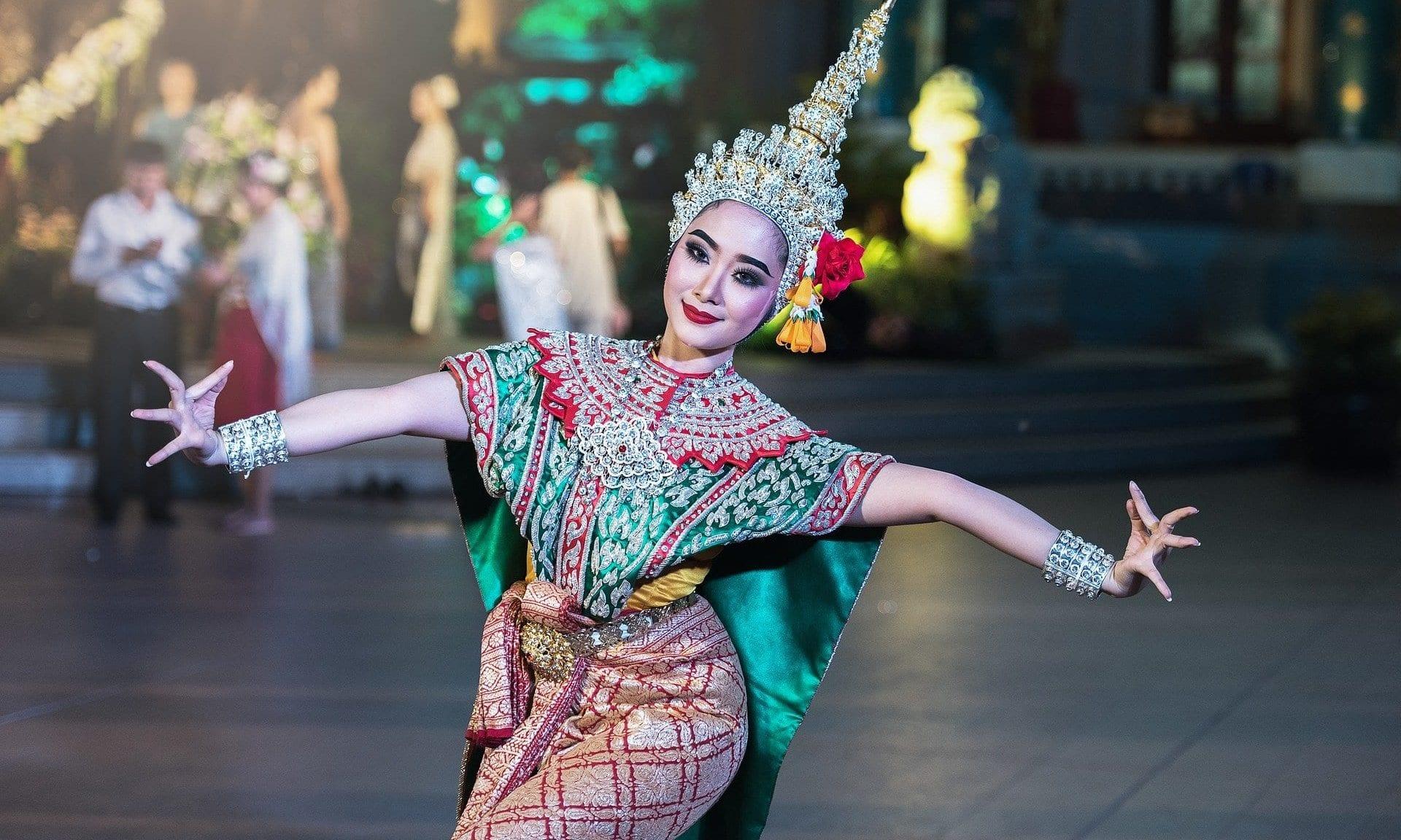 Asiatische Tänzerin