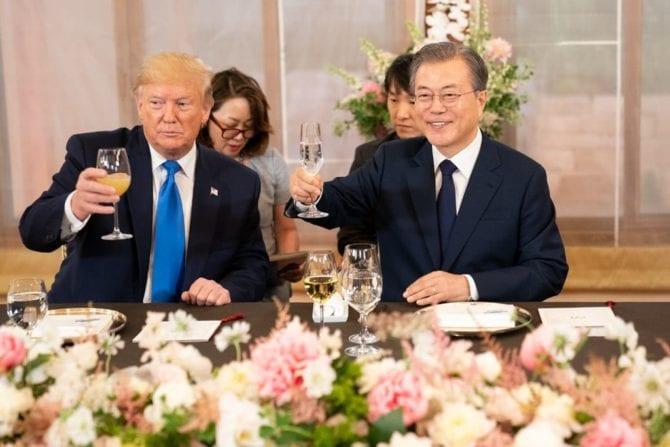Präsident Moon Jae in