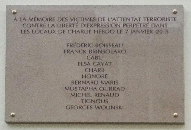 Gedenktafel Charlie Hebdo