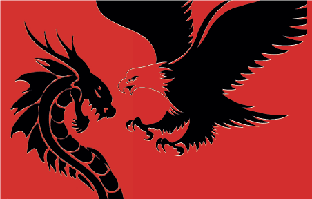 Drache und Adler