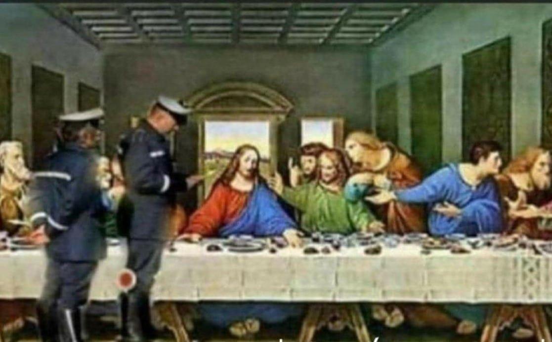 Letztes Abendmahl Polizei