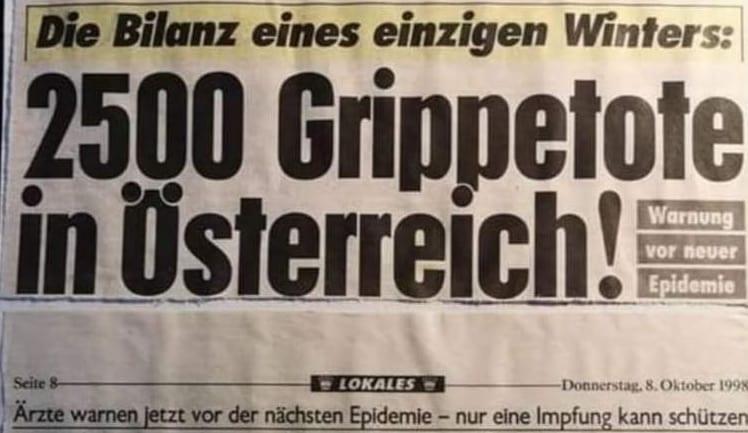 Kronen Zeitung / Grippe