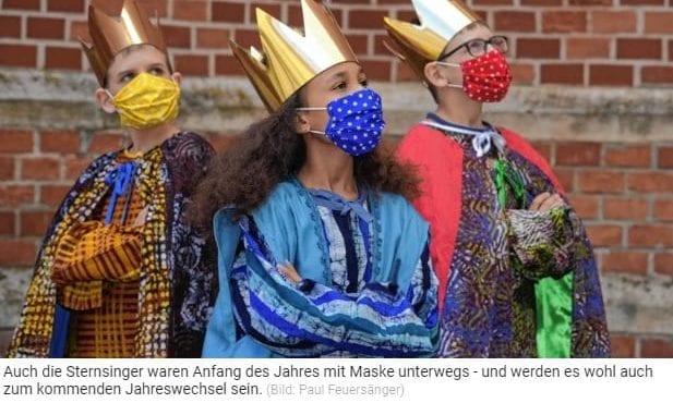Sternsinger mit Maske / Kronen Zeitung