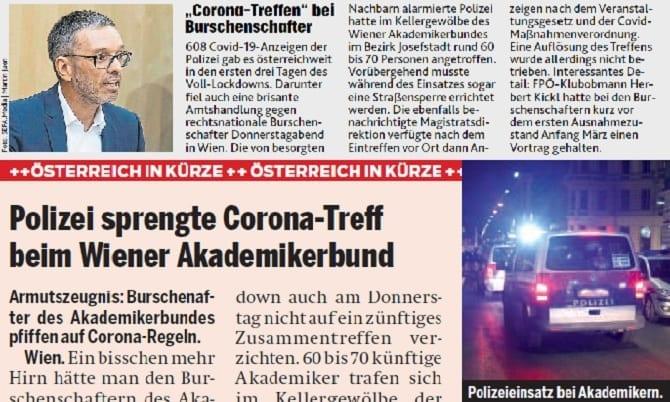Artikel aus Krone und Österreich