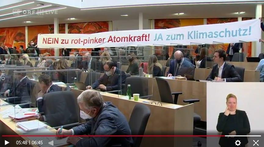 Transparent im Parlament