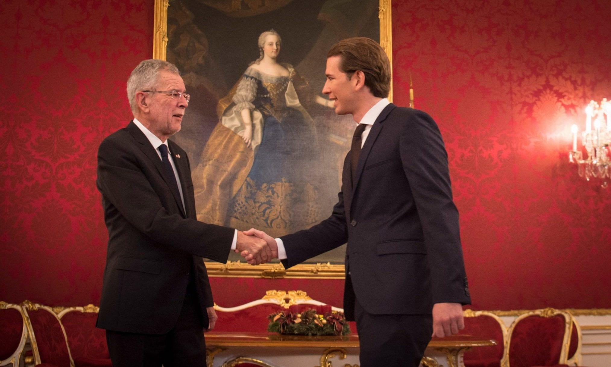 Bundespräsident Alexander Van der Bellen und Bundeskanzler Sebastian Kurz