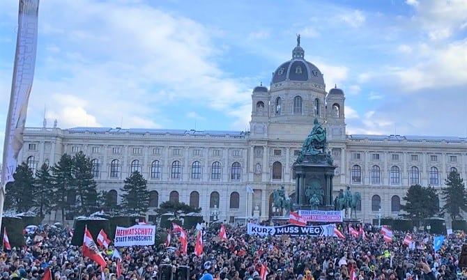 Corono-Demo am 16. Jänner in Wien