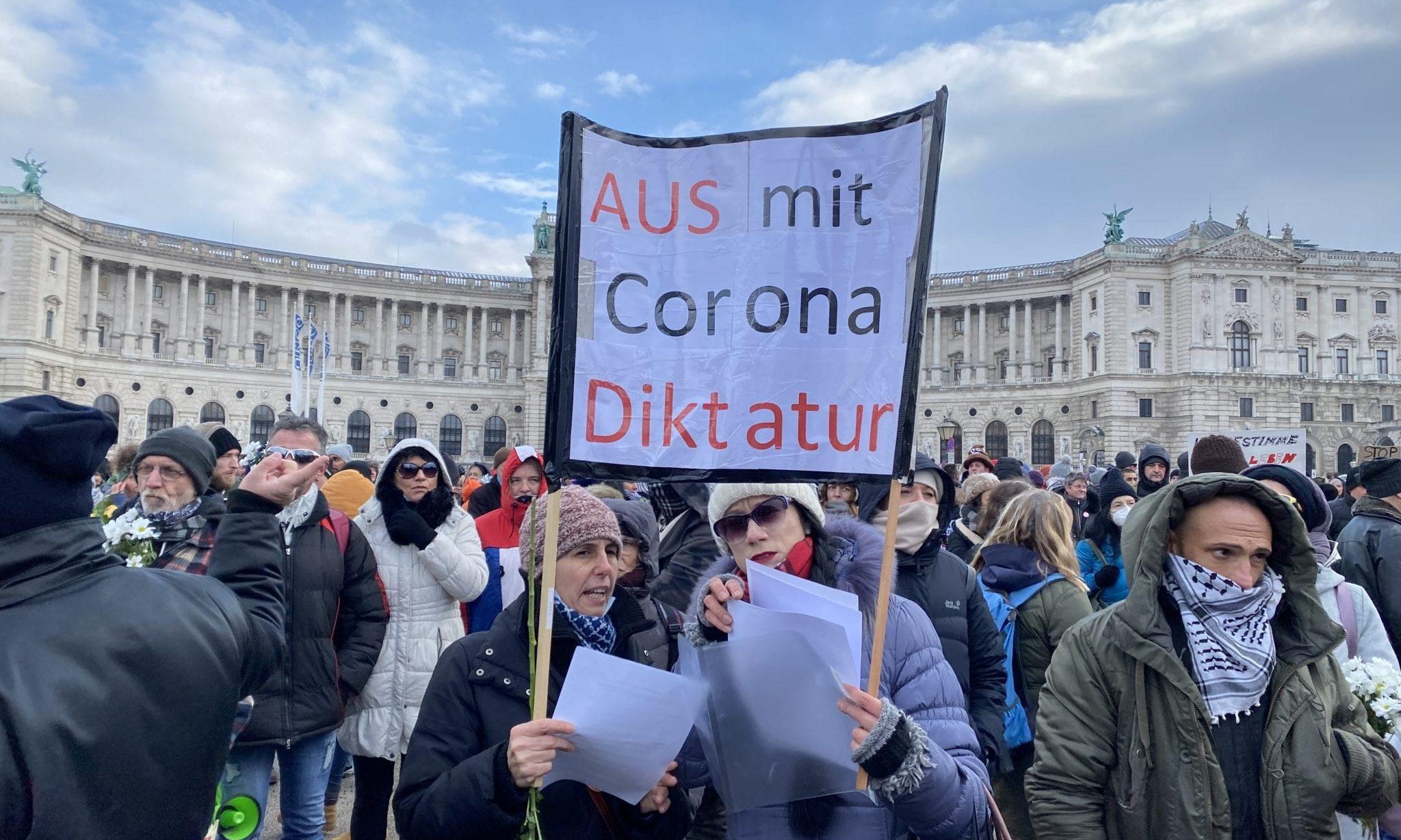 Corona-Demo Heldenplatz