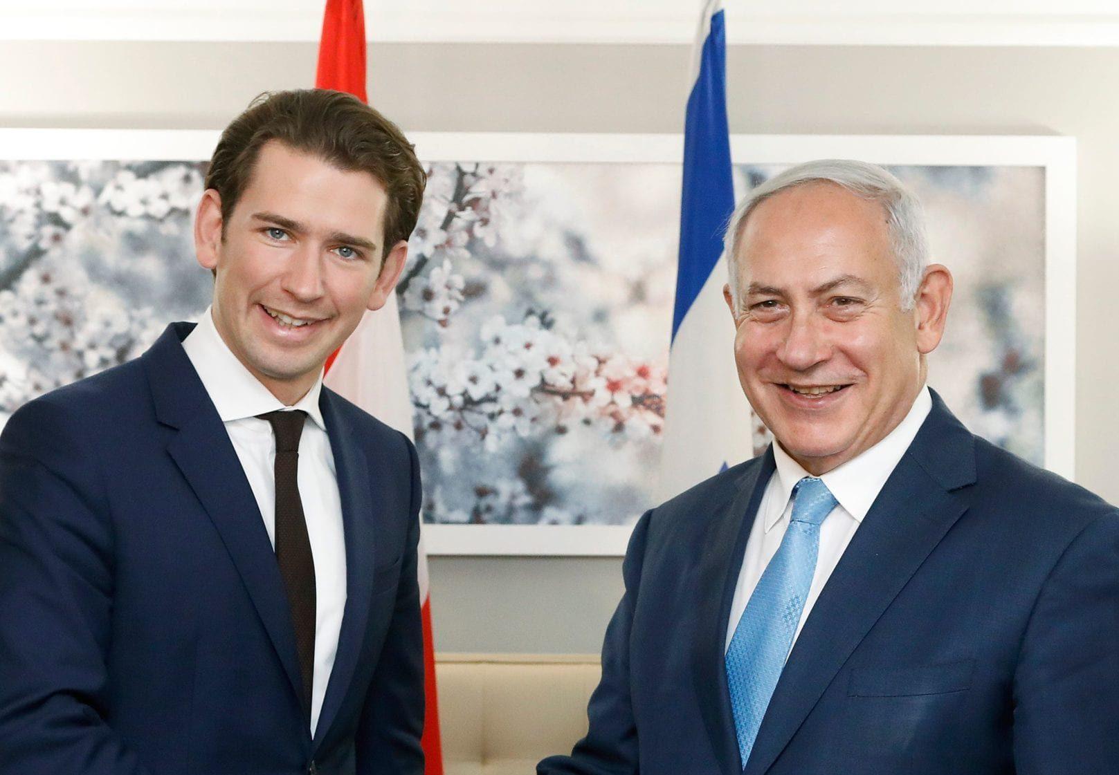 Bundeskanzler Kurz in New York Netanjahu