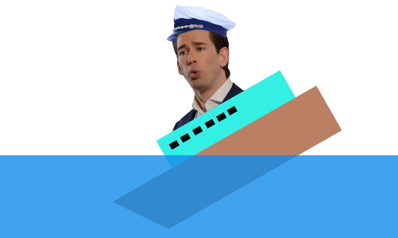 Sebastian Kurz als Kapitän