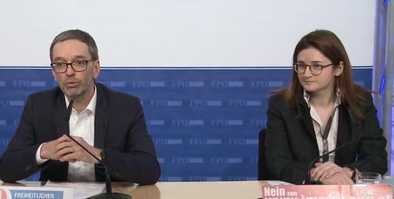 Herbert Kickl und Marlene Svazek