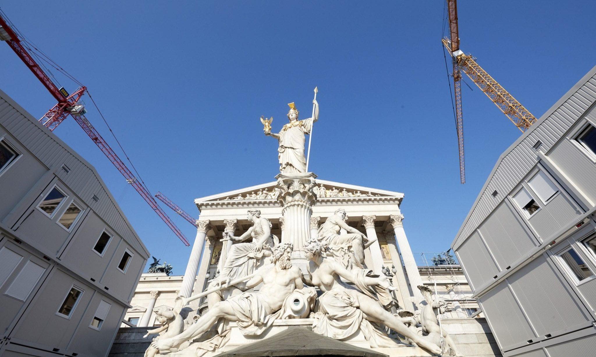 Parlamentsgebäude / Baustelle