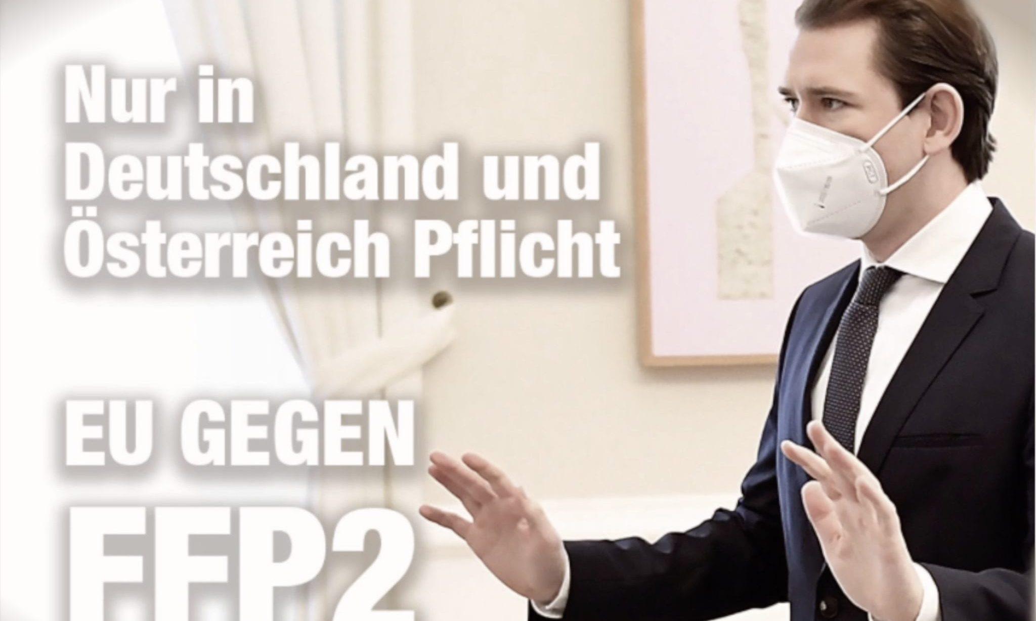 Sebastian Kurz FFP2-Masken