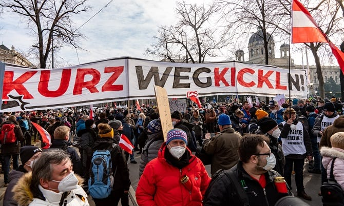 Demo am 31.1.2021 in Wien
