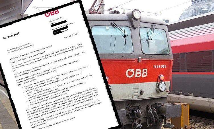 ÖBB-Lok und Brief