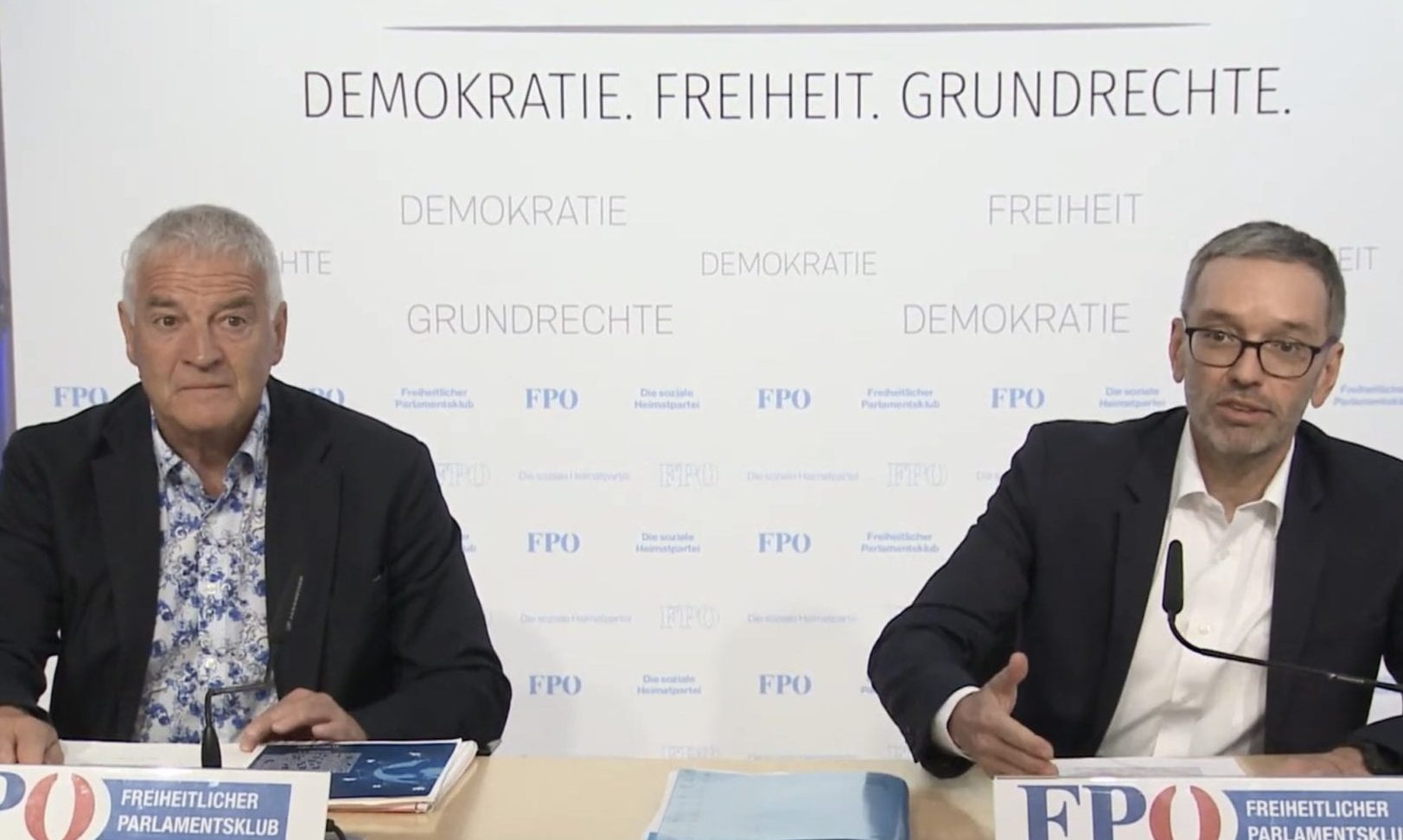 Michael Geistlinger und Herbert Kickl
