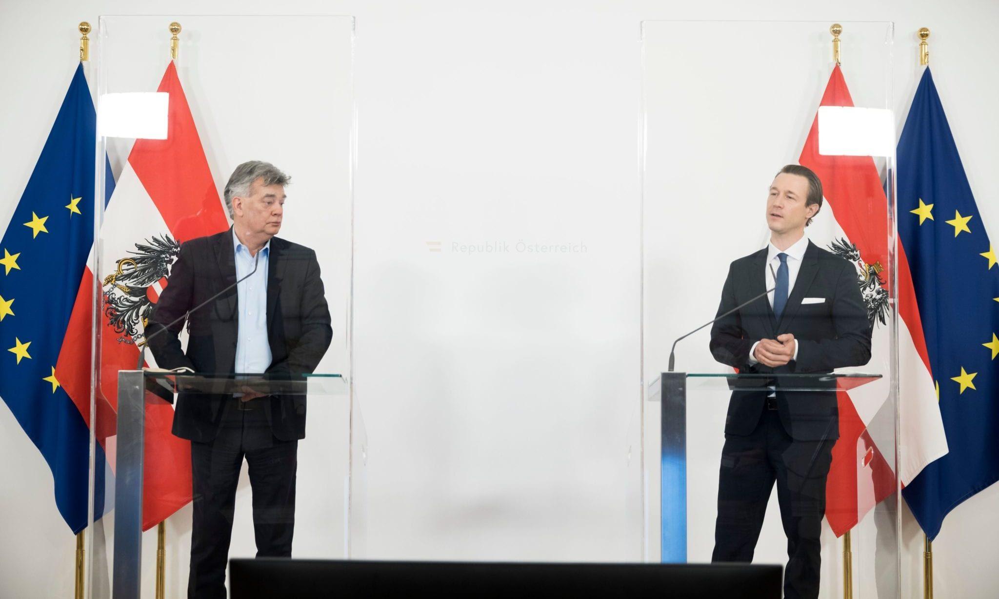 Werner Kogler und Gernot Blümel