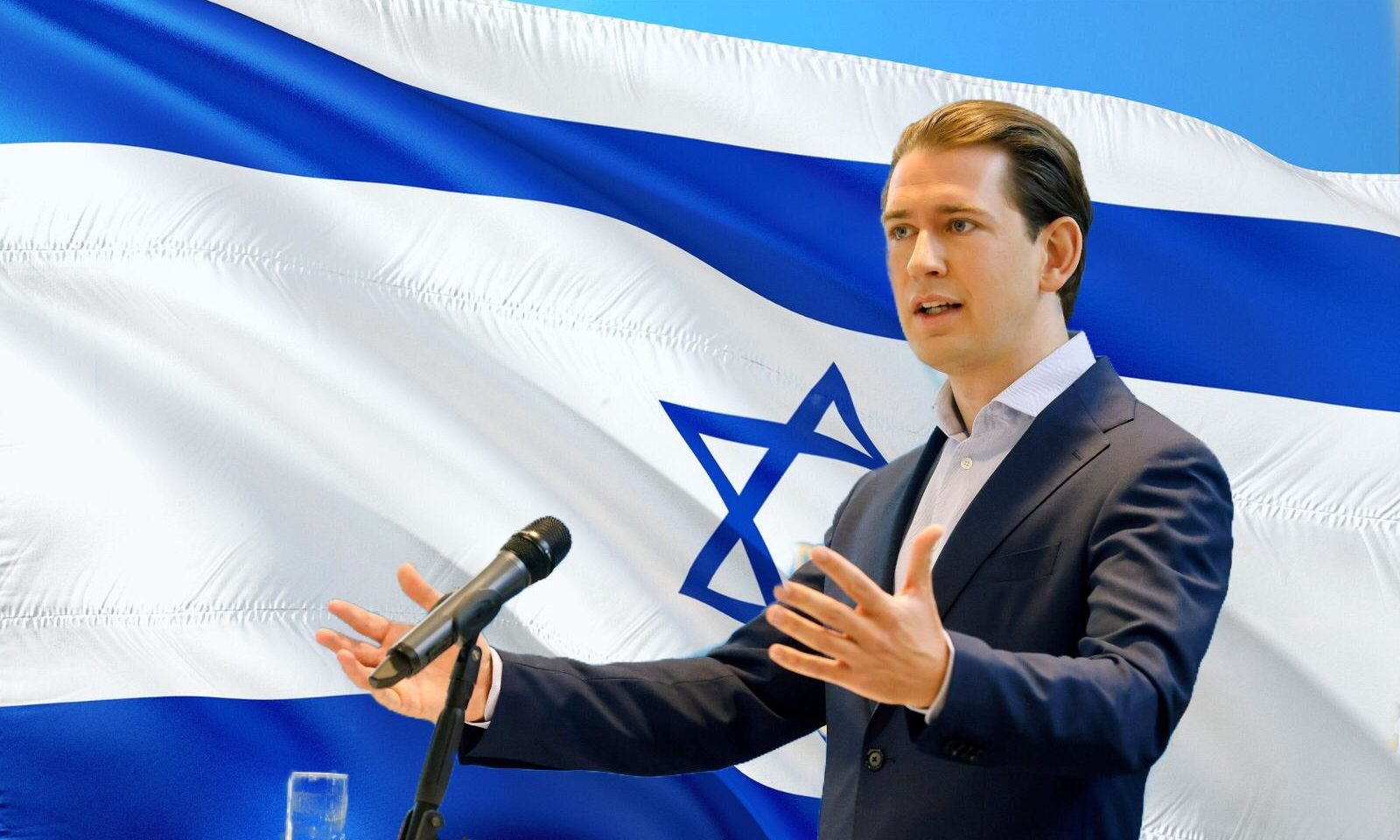 Kurz:Israel-Fahne