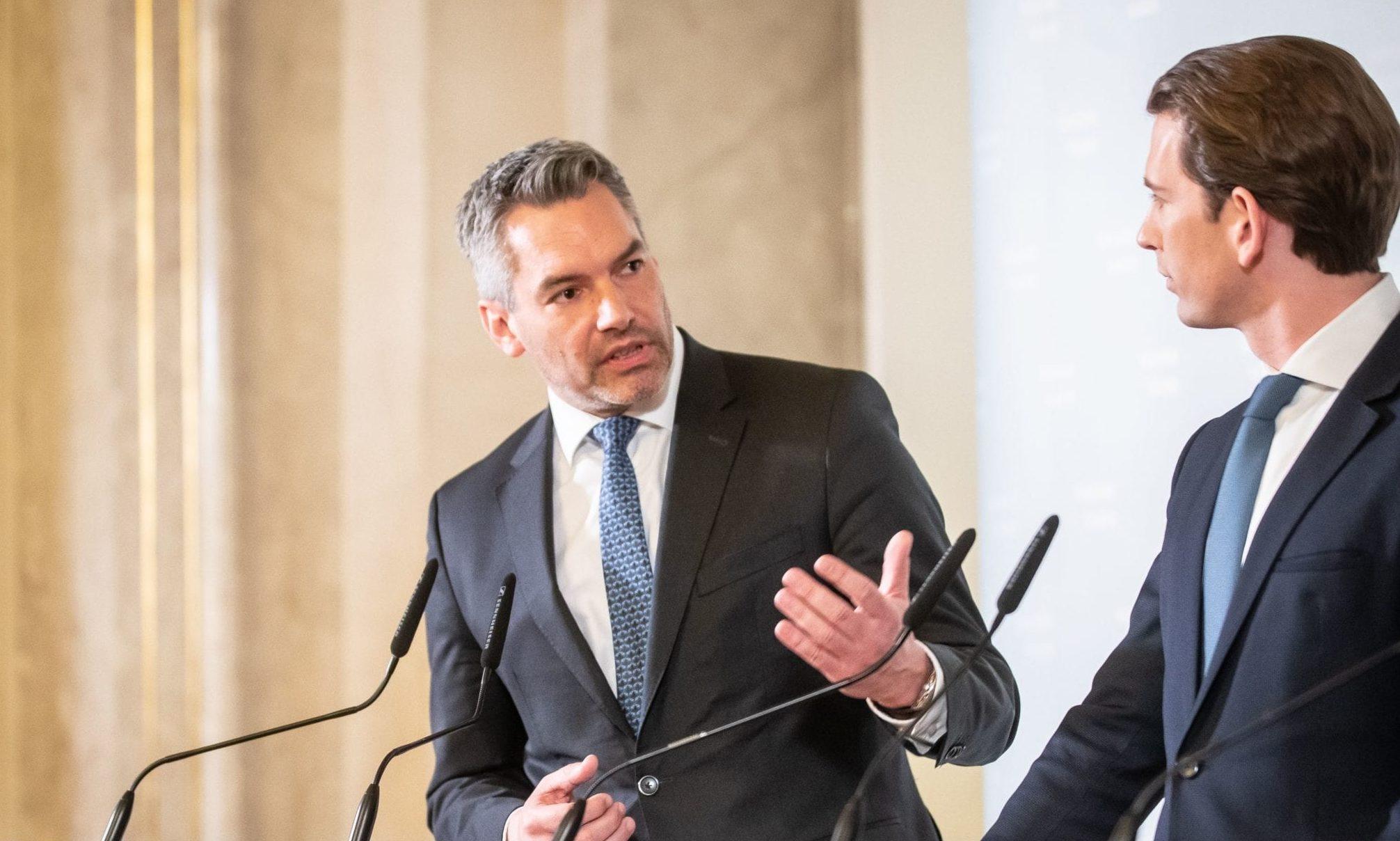 Karl Nehammer und Sebastian Kurz