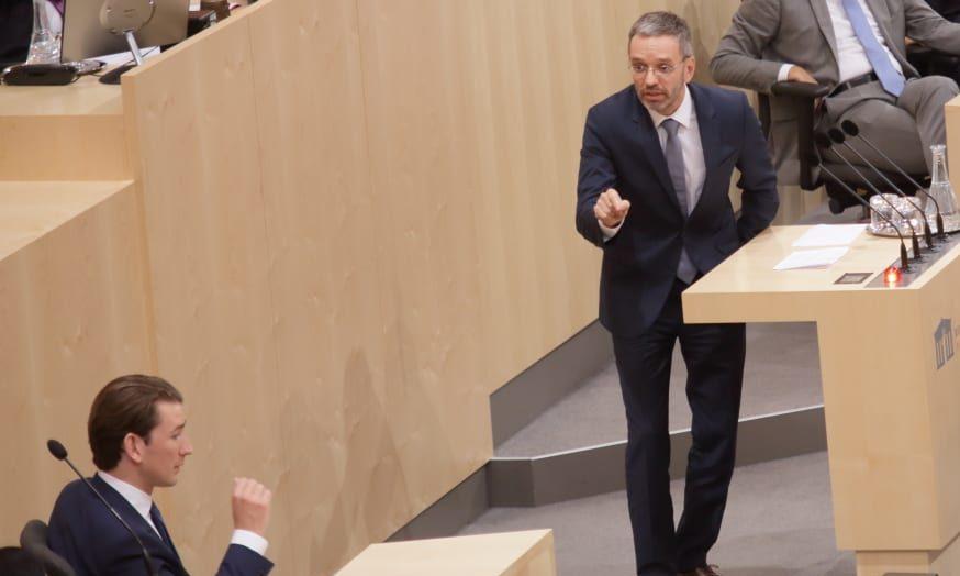 Herbert Kickl / Sebastian Kurz / Parlament