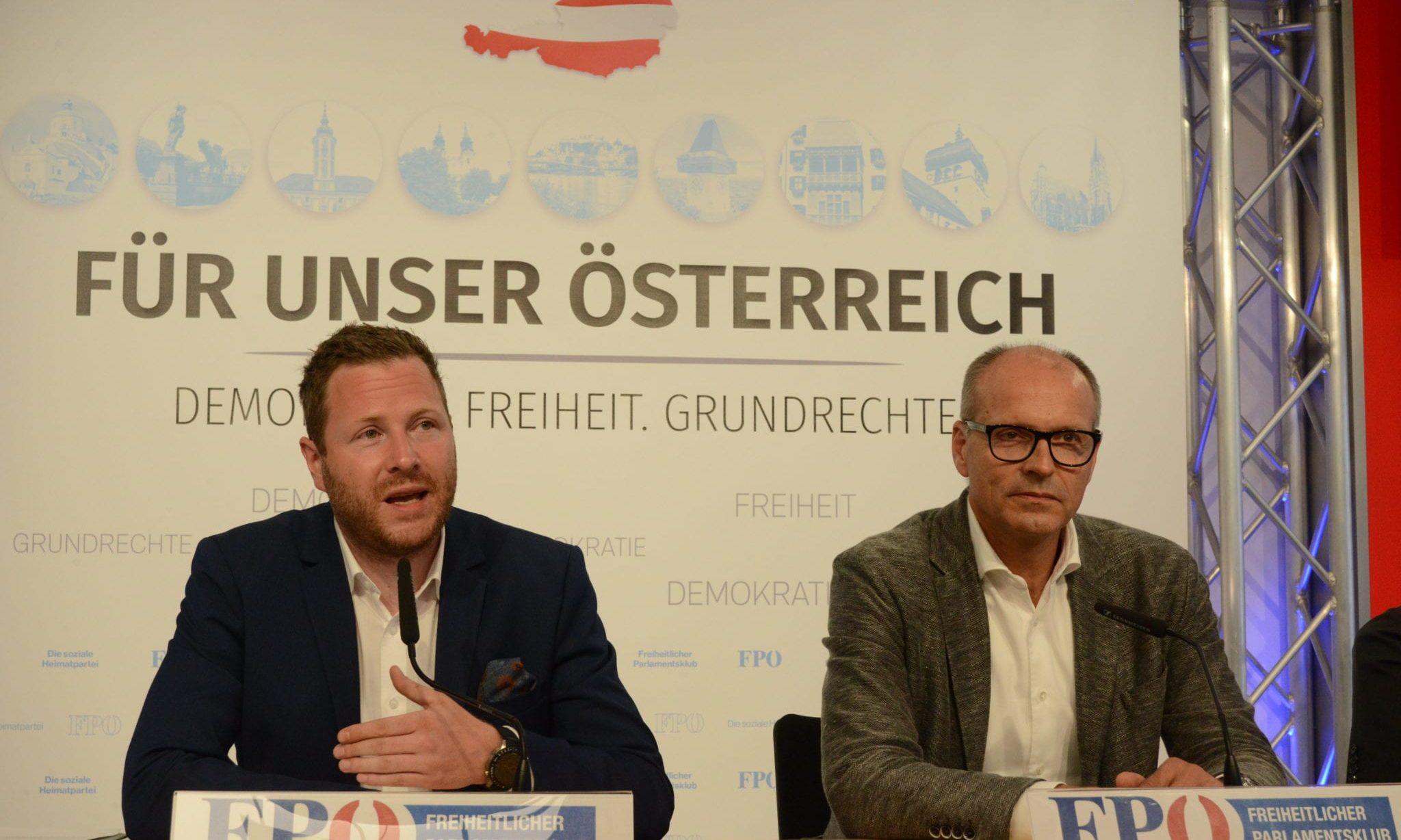 Michael Schnedlitz und Harald Stefan