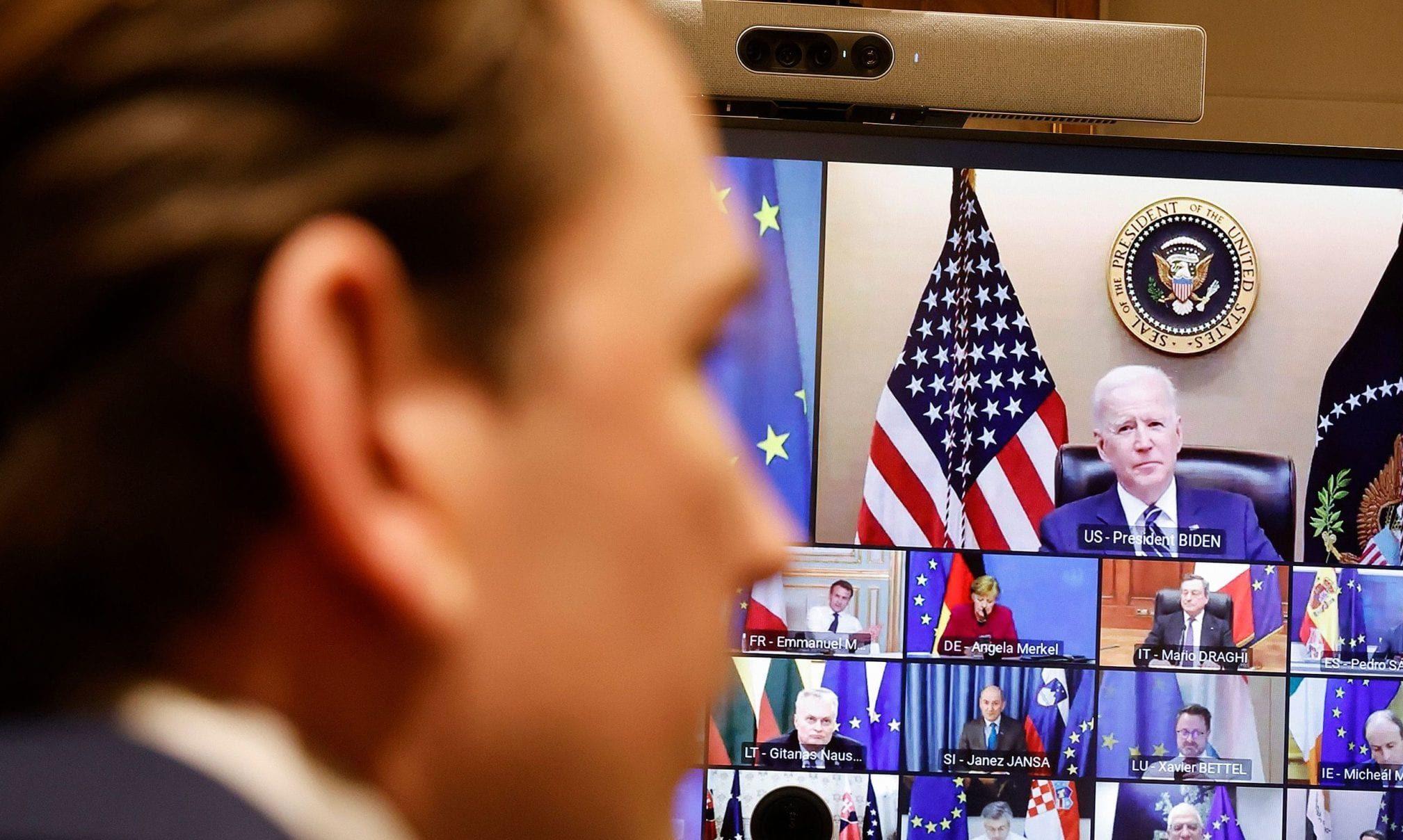 Sebastian Kurz / Videokonferenz