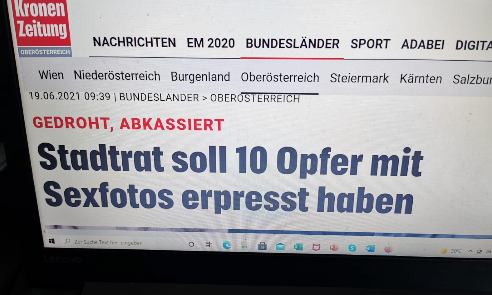 Screenshot / Kronen Zeitung