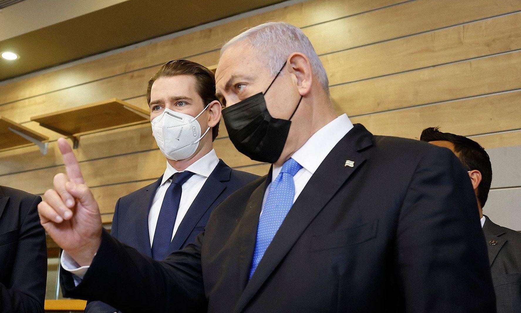 Sebastian Kurz und Benjamin Netanjahu