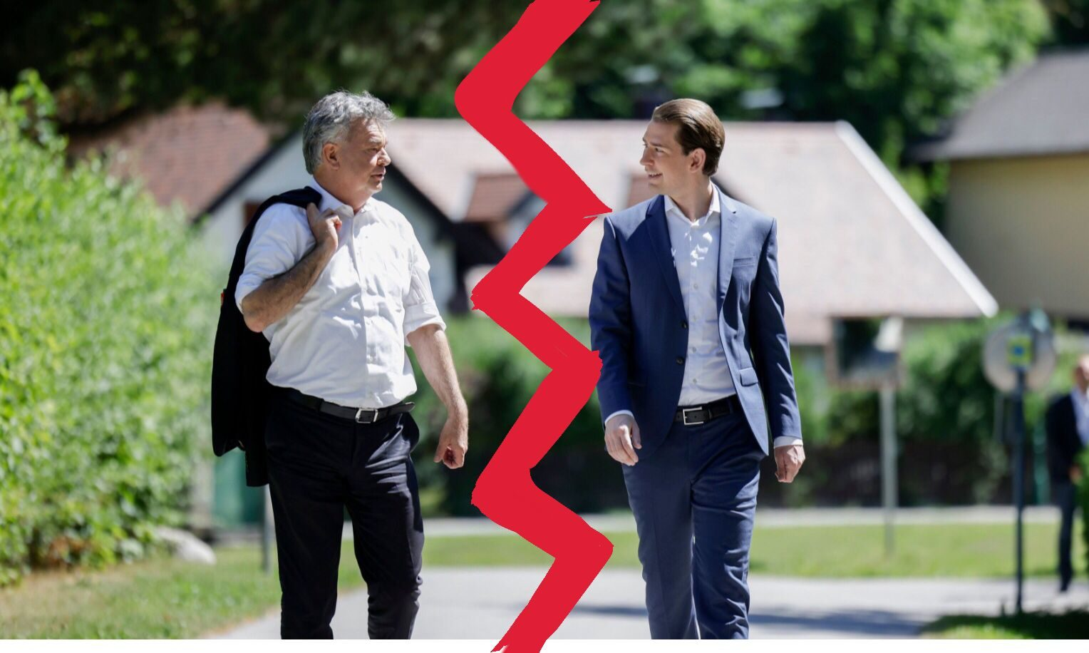 Werner Kogler / Sebastian Kurz / Blitz