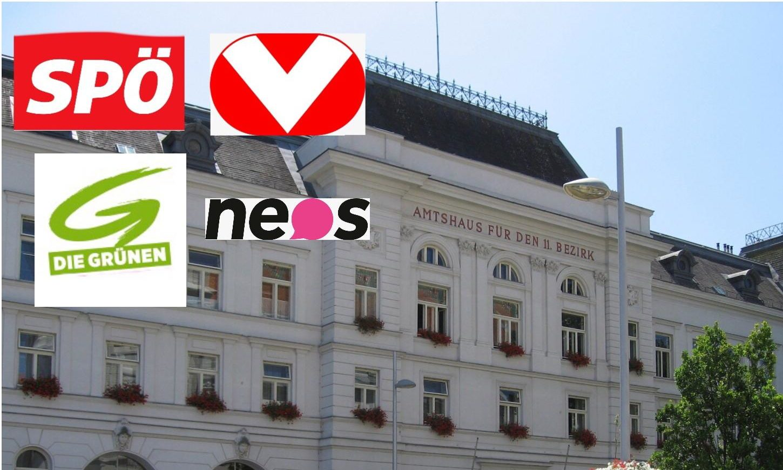 Amtshaus Simmering mit Logos