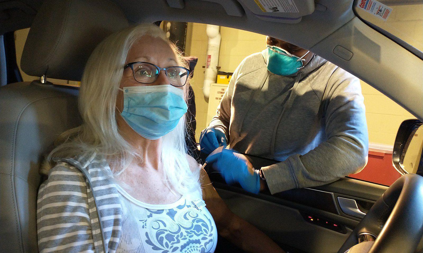 Impfung im Auto